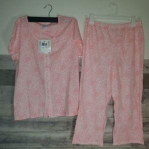 Aria North Fleece Pajama Size Medium 2 piece garme
